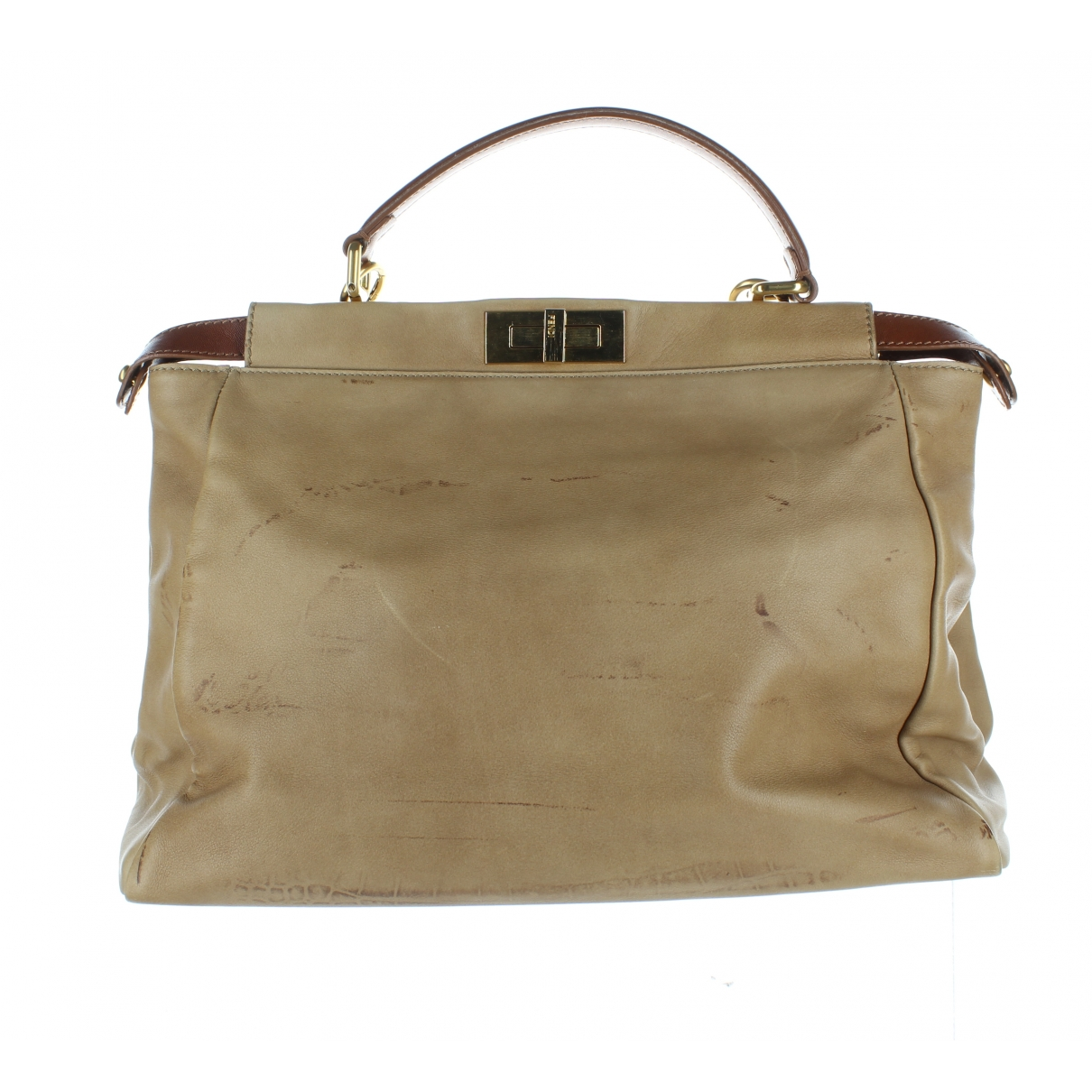 Fendi Peekaboo Beige Leather handbag for Women \N