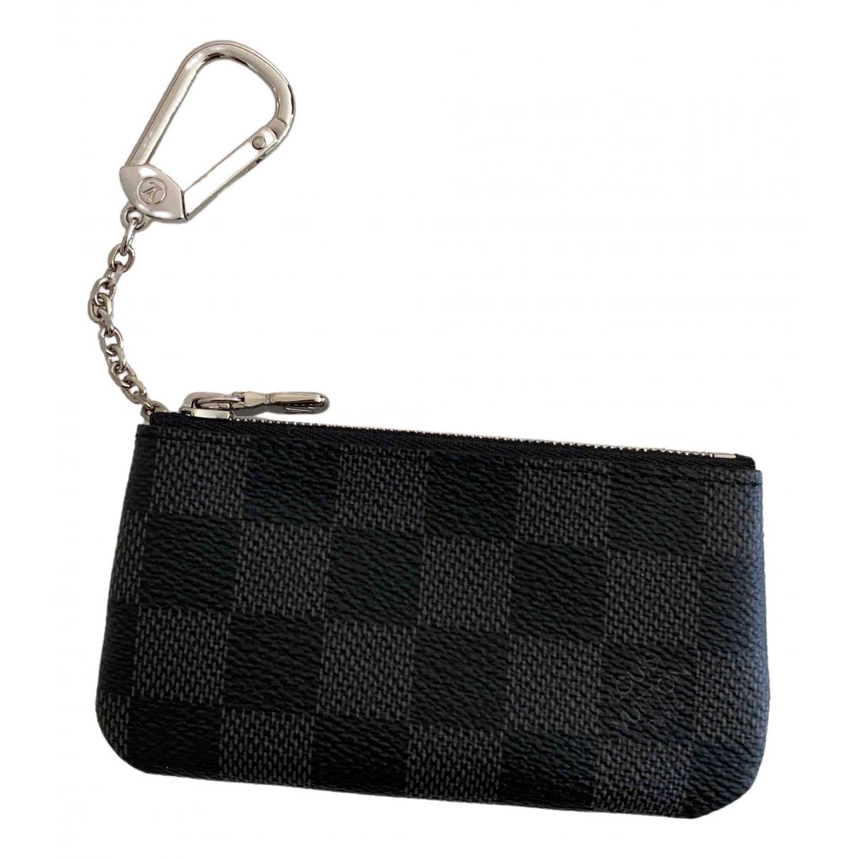 Louis Vuitton Key Pouch Kleinlederwaren in  Schwarz Leinen