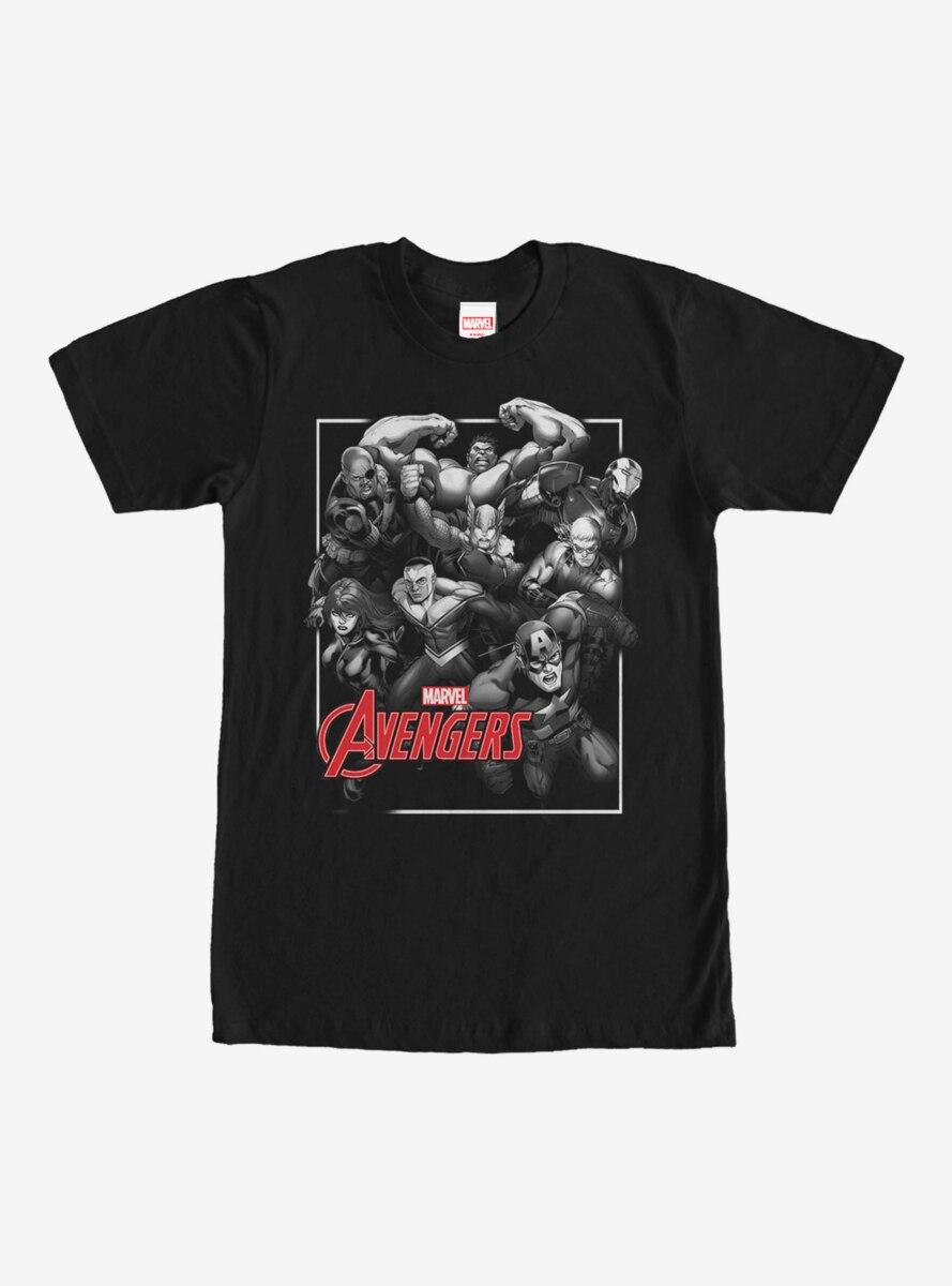 Marvel Grayscale Avengers T-Shirt