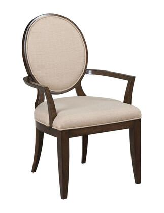 Grantham Hall Collection 512-637 UPH ARM CHAIR W/DECORATIVE BACK-KD in Deep Coffee