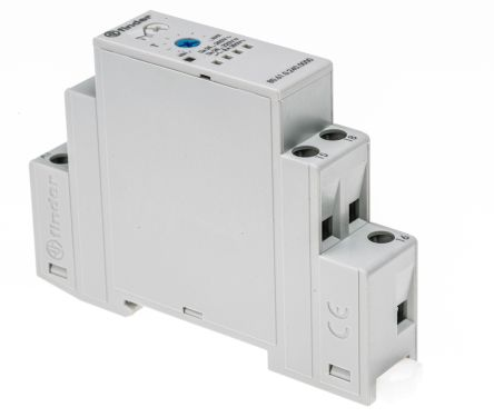 Finder SPDT Timer Relay - 0.05 → 180 s, 1 Contacts, DIN Rail