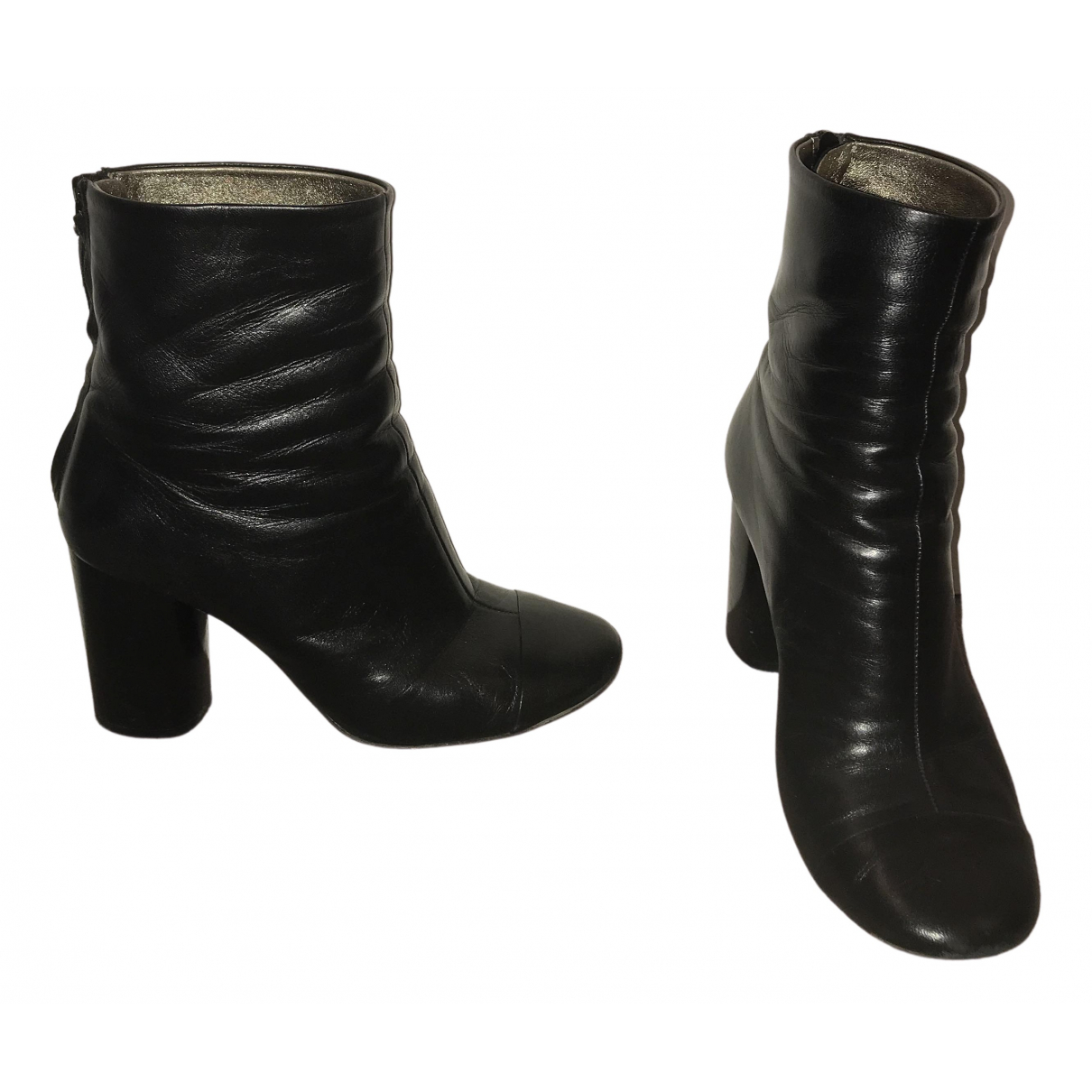 Isabel Marant N Black Leather Boots for Women 37 EU