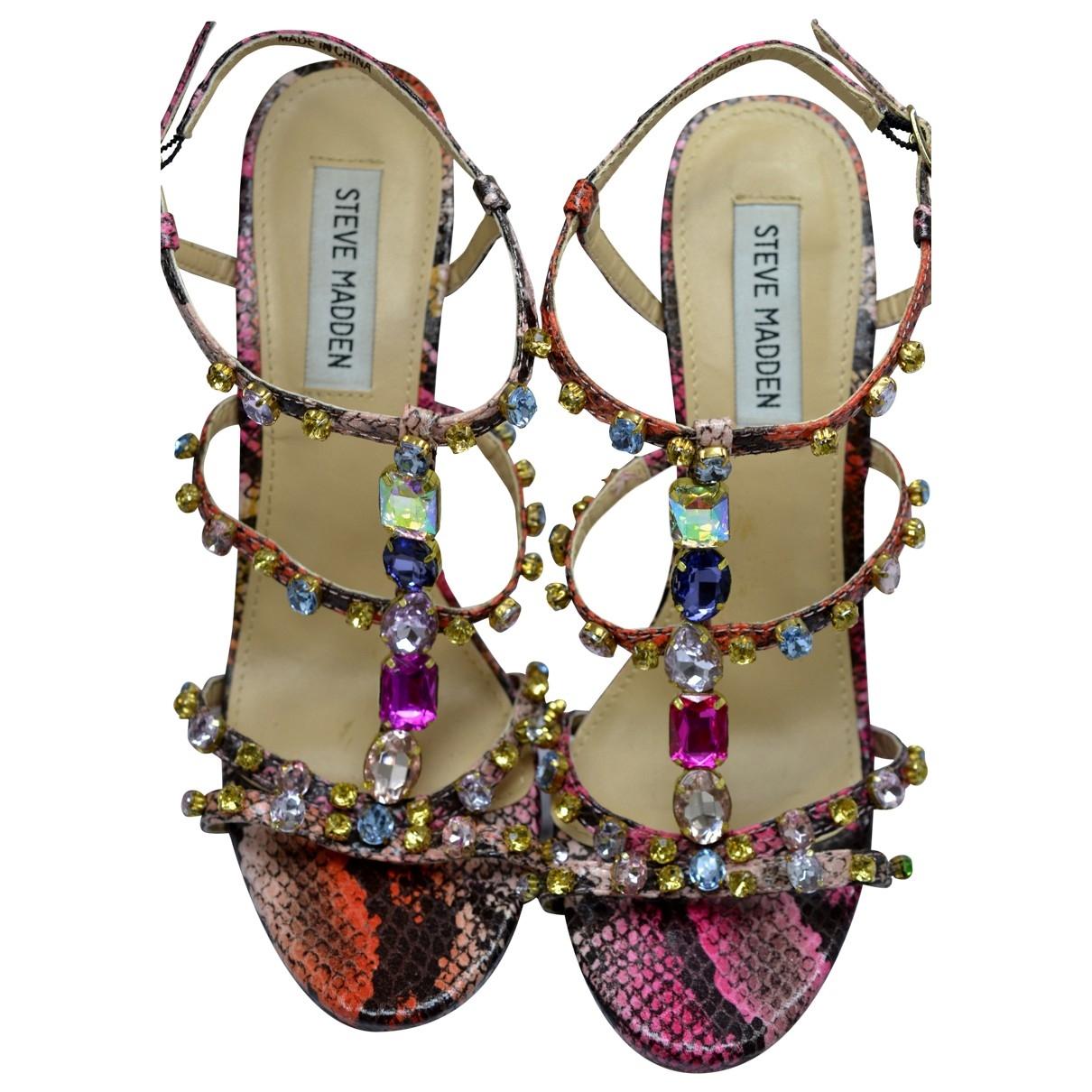 Steve Madden - Sandales   pour femme en cuir - multicolore
