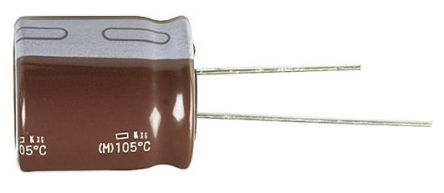 Panasonic 270μF Electrolytic Capacitor 10V dc, Through Hole - EEUFR1A271 (25)