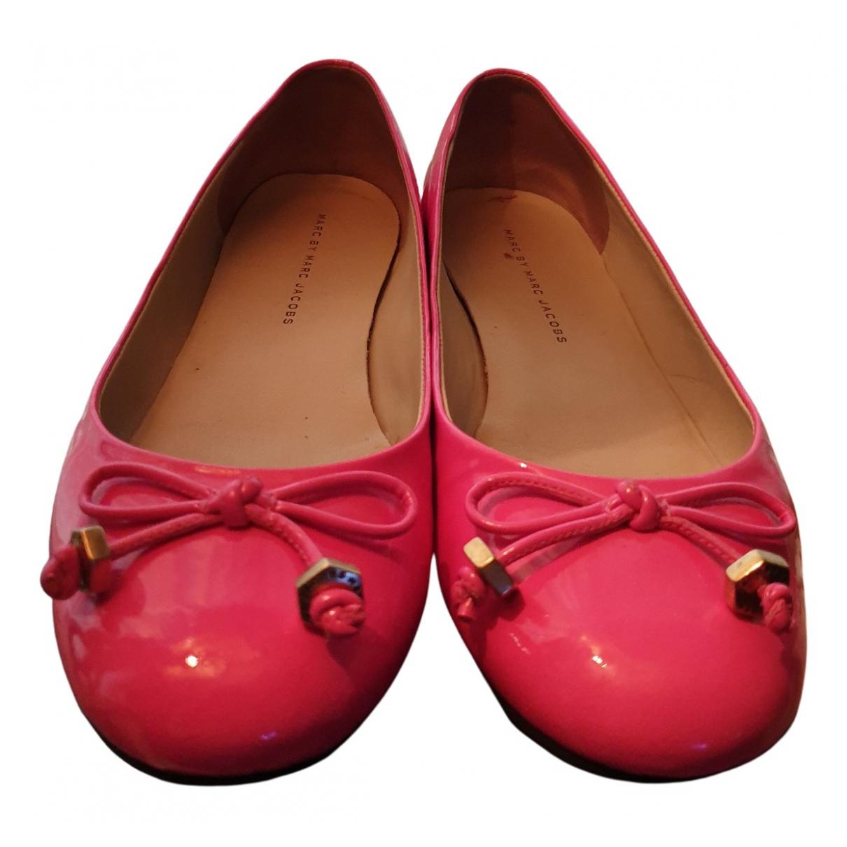 Marc By Marc Jacobs - Ballerines   pour femme en cuir verni - rose