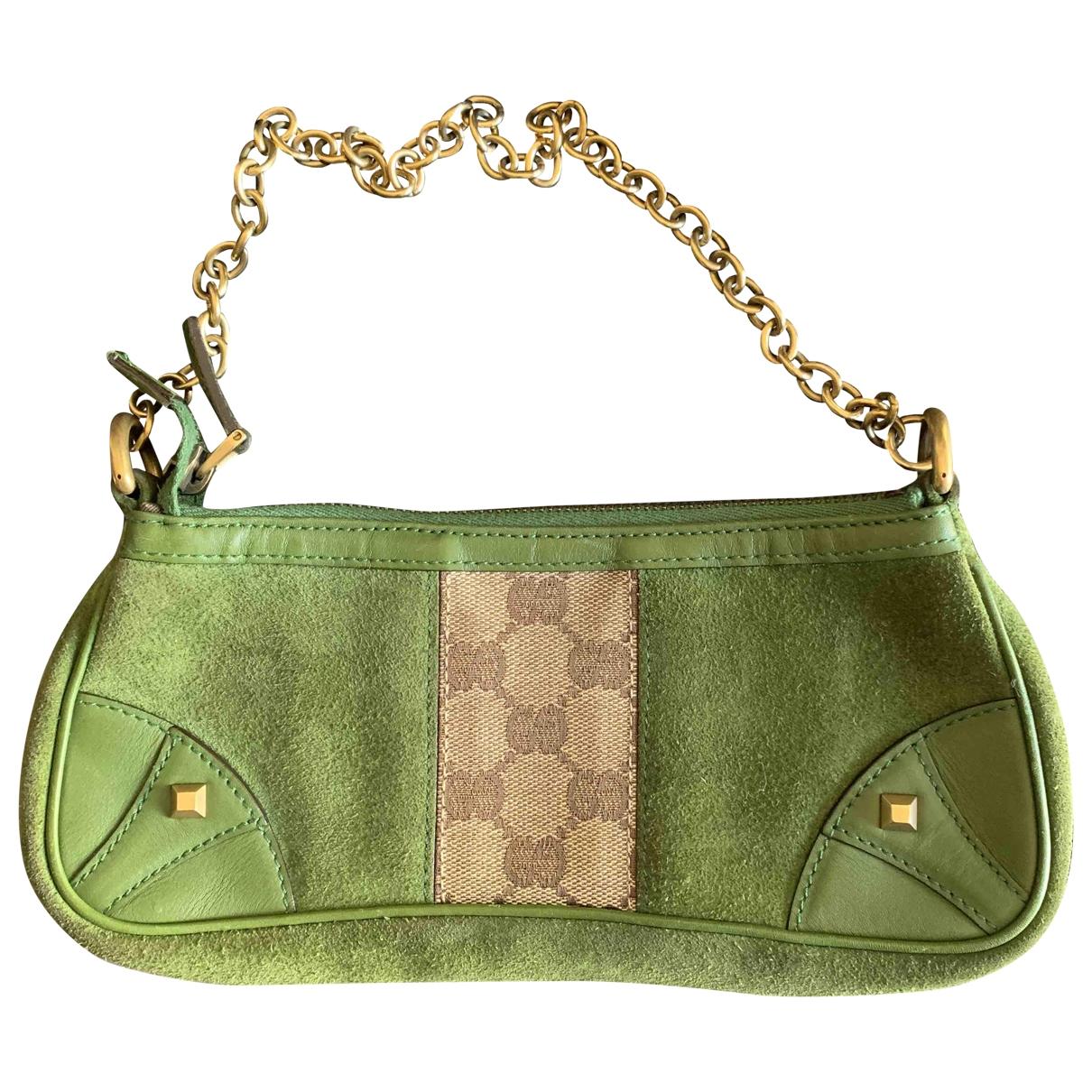 Gucci \N Green Leather Clutch bag for Women \N