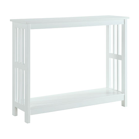 Convenience Concepts Mission Console Table, One Size , White