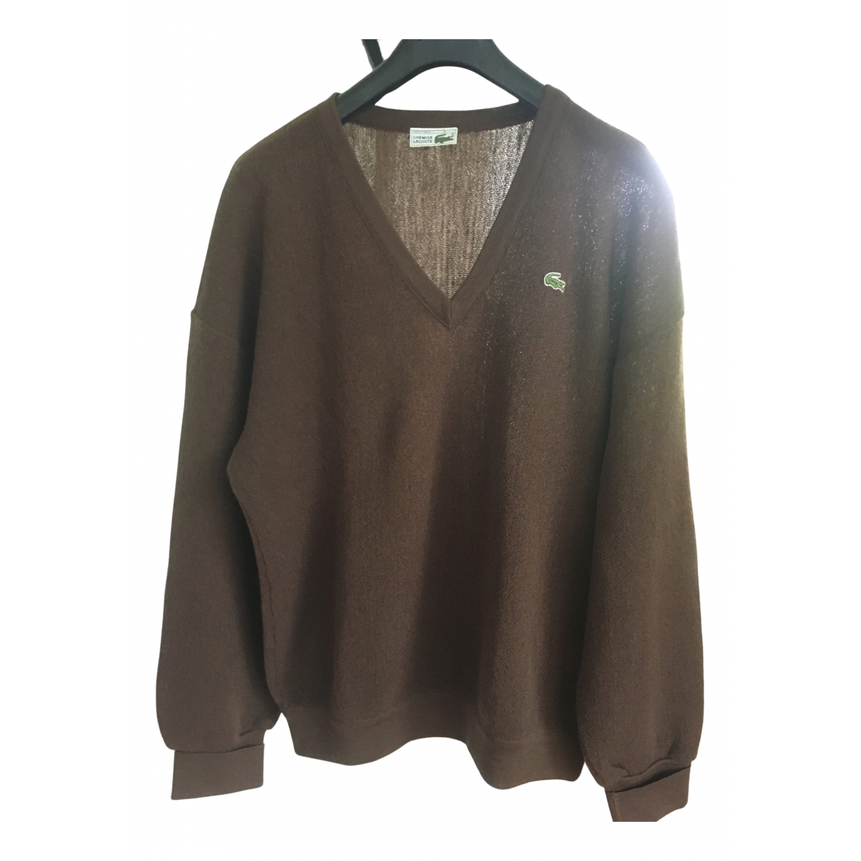Lacoste \N Pullover.Westen.Sweatshirts  in  Braun Wolle