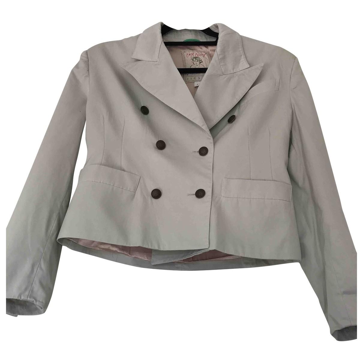 Jigsaw - Veste   pour femme en coton - ecru