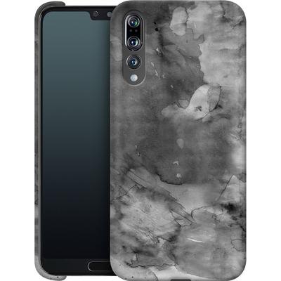 Huawei P20 Pro Smartphone Huelle - Black Watercolor von Emanuela Carratoni