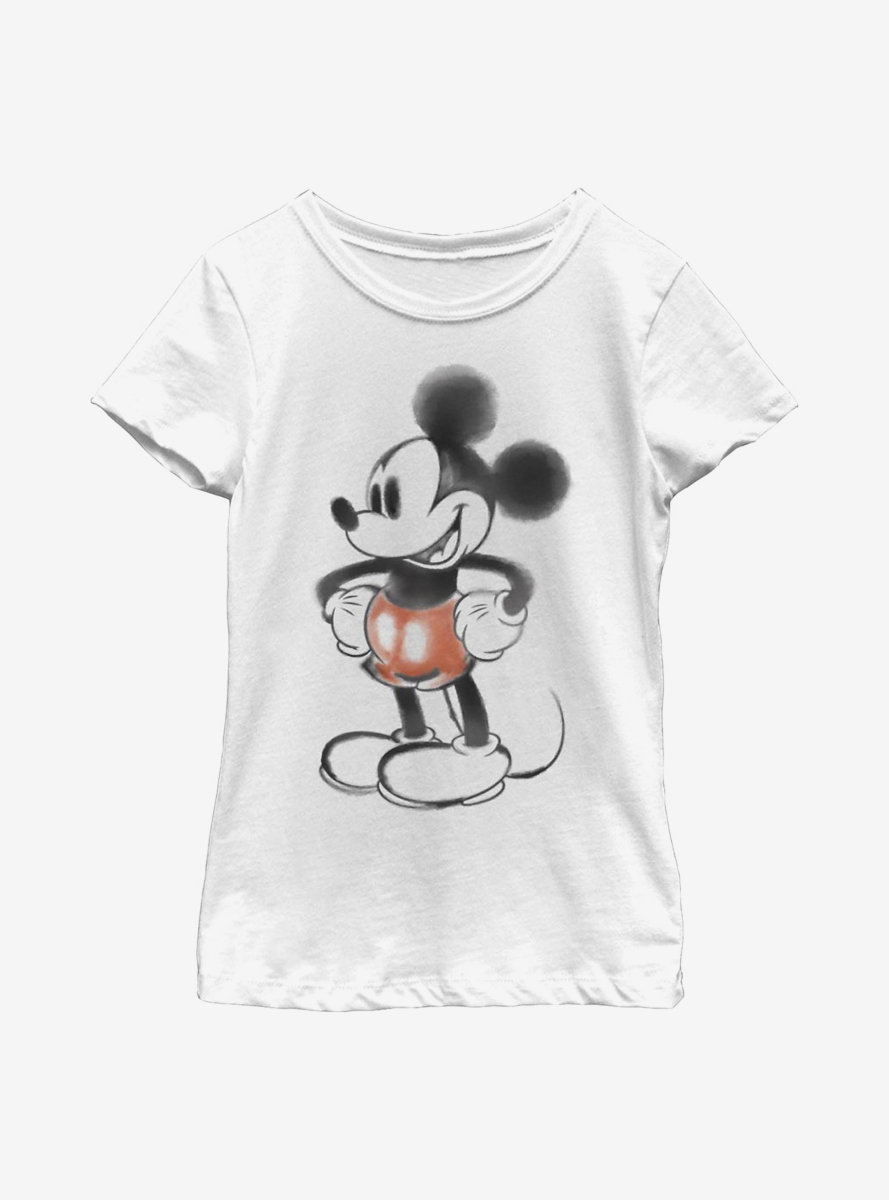 Disney Mickey Mouse Watercolor Mouse Youth Girls T-Shirt