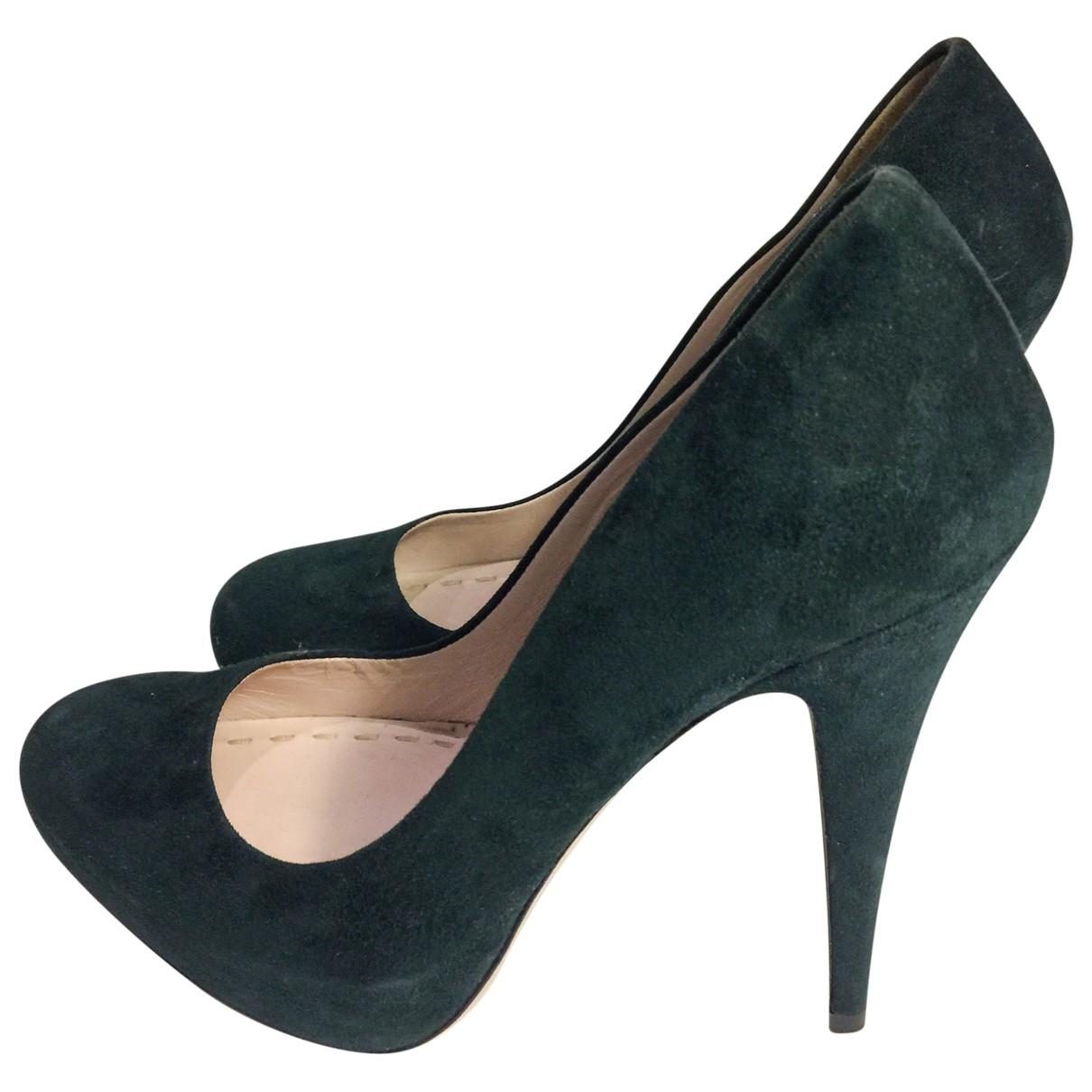 Miu Miu - Escarpins   pour femme en suede - vert