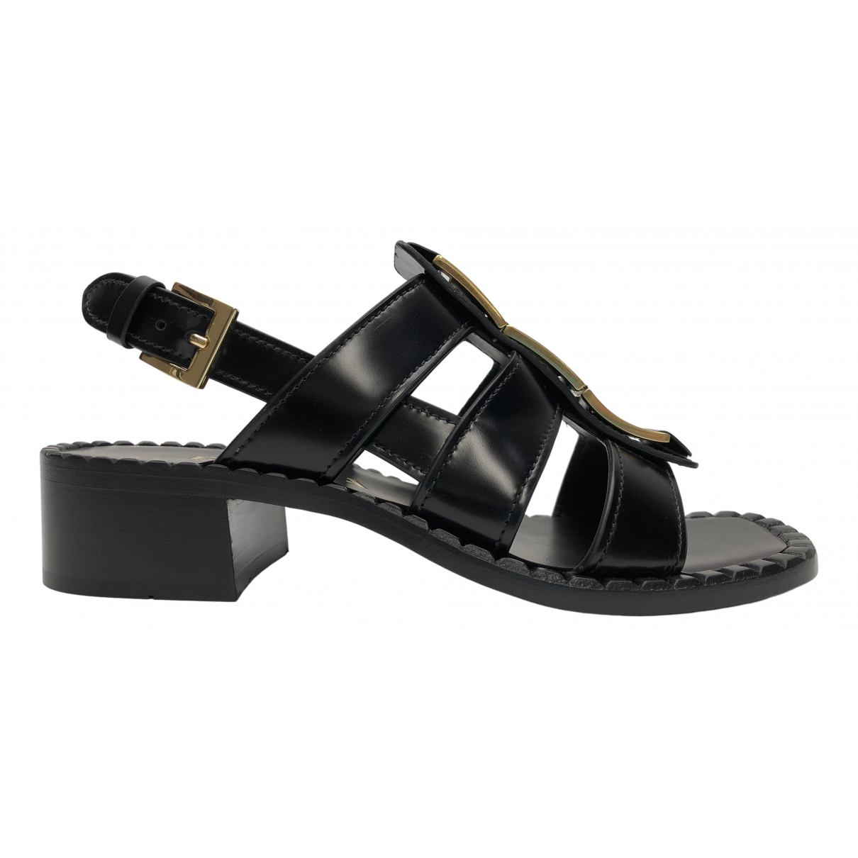 Prada \N Black Leather Sandals for Women 37 EU