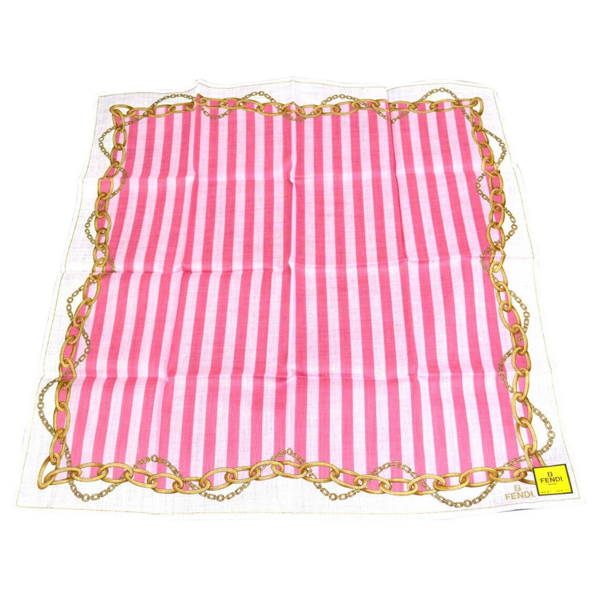 Fendi - Foulard   pour femme en coton - multicolore