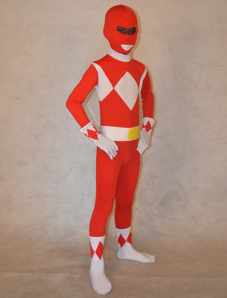 Milanoo Morph Suit Trendy Multi Color Unisex Kids Superheros Lycra Spandex Fabric Stylish Multicolor Zentai Suits Full Body Suit