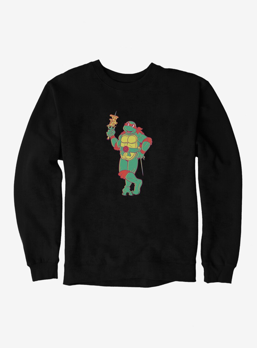 Teenage Mutant Ninja Turtles Raphael Eating Pizza Sweatshirt