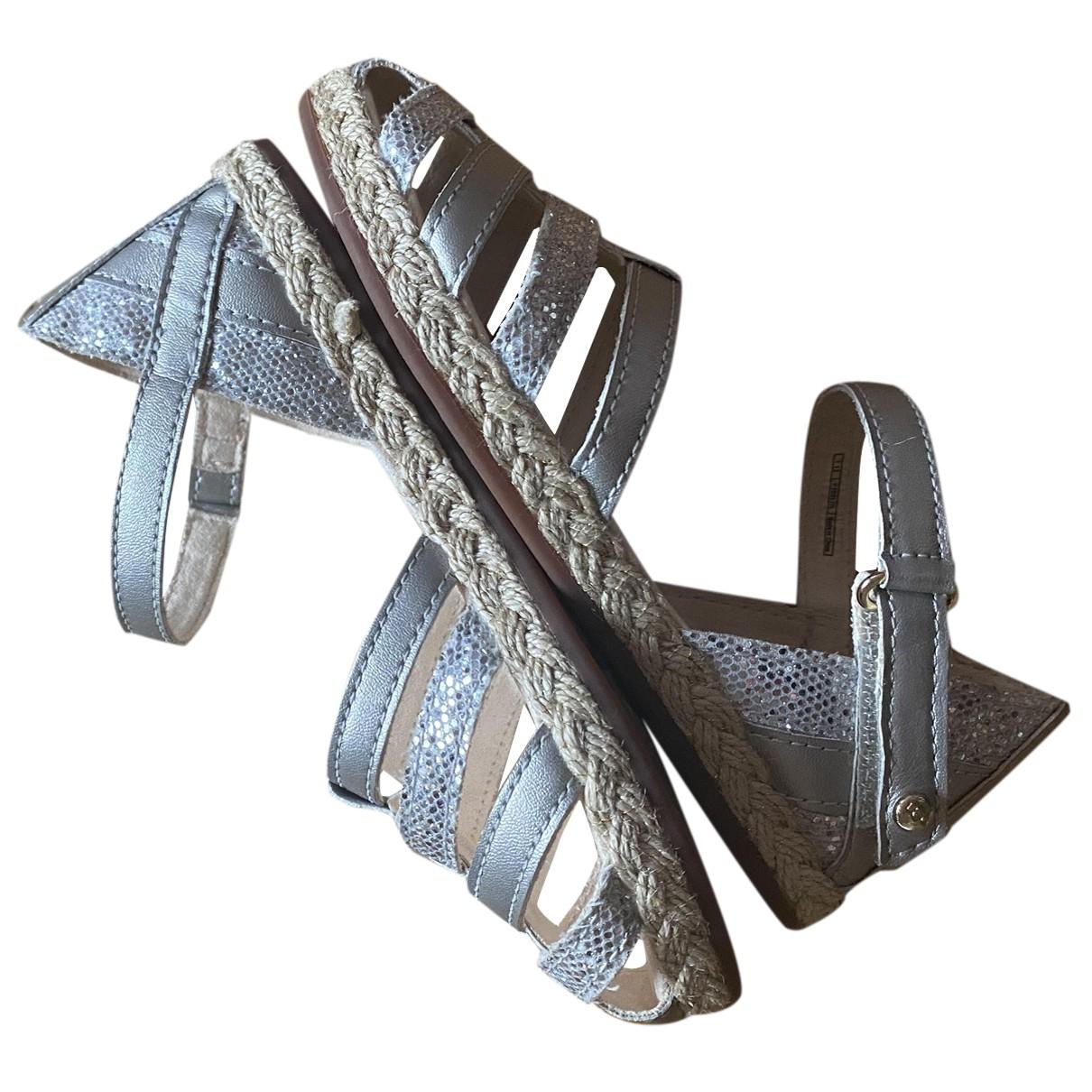 Ugg \N Sandalen in  Silber Mit Pailletten