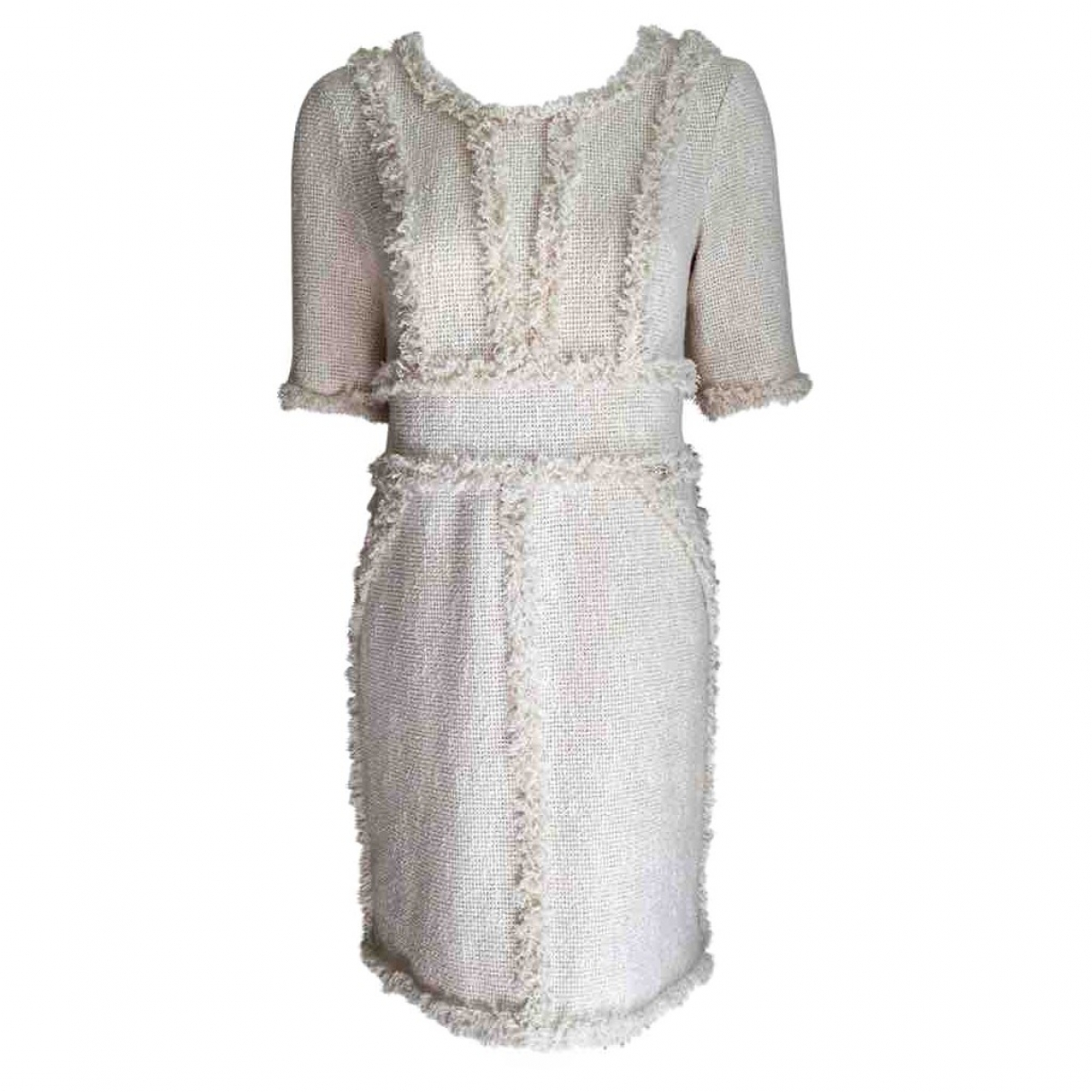 Chanel \N Kleid in  Ecru Baumwolle
