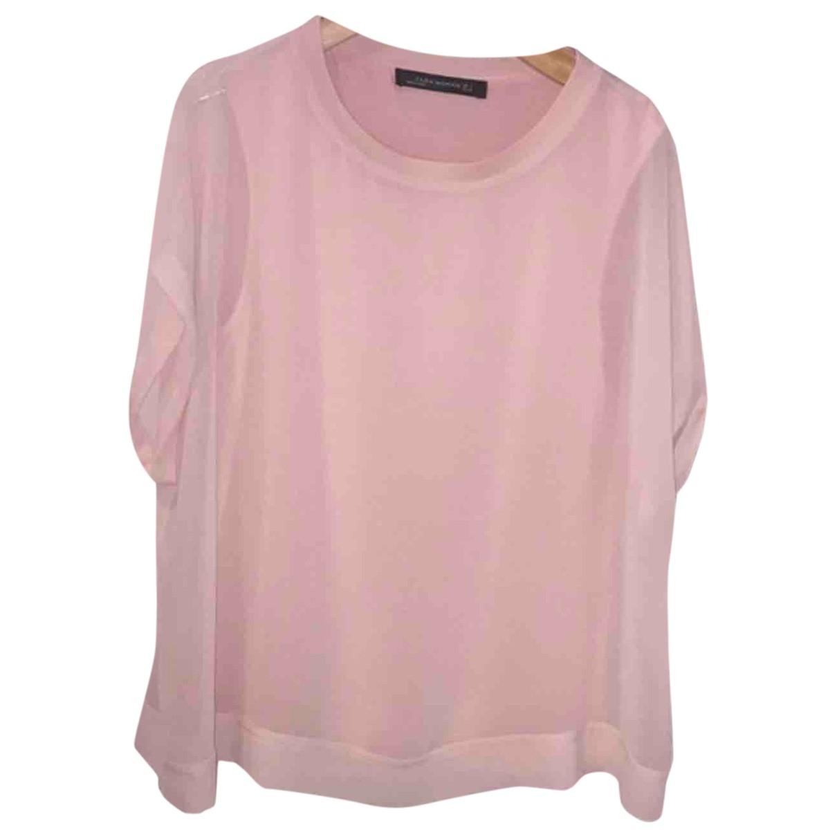 Zara \N Top in  Rosa Baumwolle