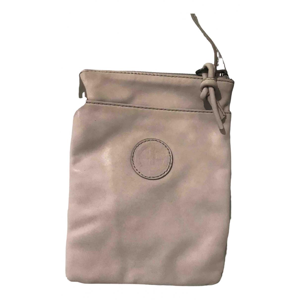 Armani Jeans \N Beige Leather handbag for Women \N