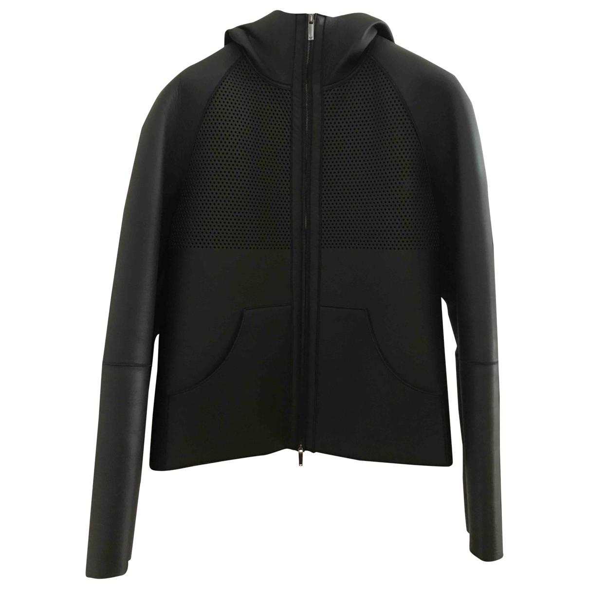 Emporio Armani \N Black Leather jacket  for Men 46 IT