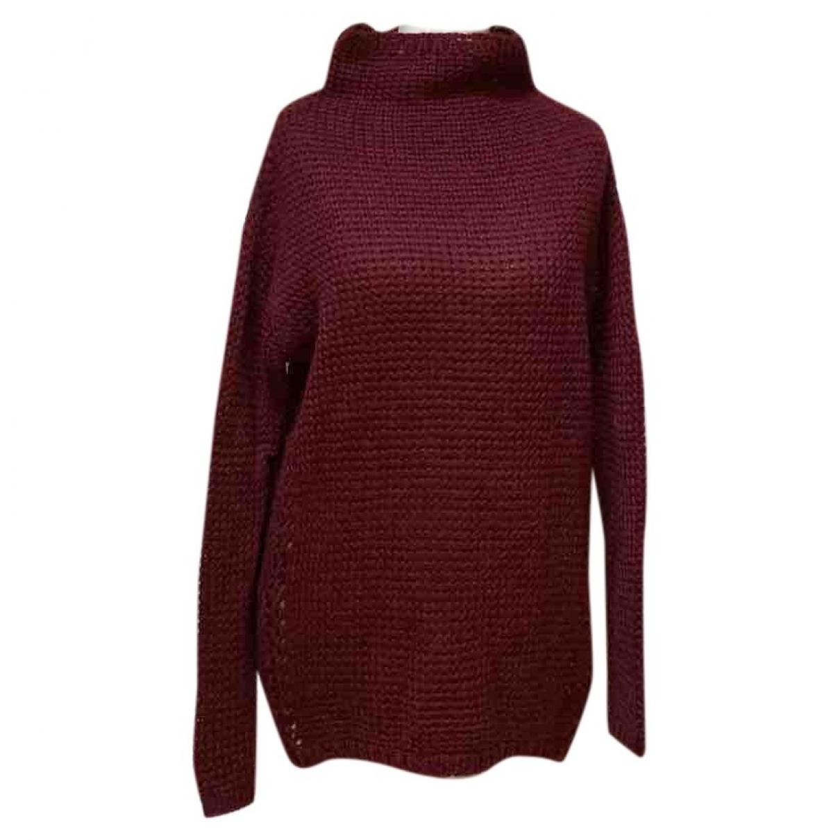 Maison Scotch - Pull   pour femme en laine - bordeaux