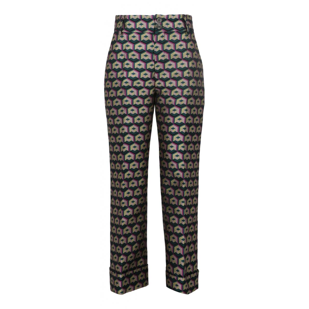 La Double J N Multicolour Trousers for Women M International