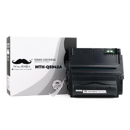 Compatible HP LaserJet 4350DTNSL Black Toner Cartridge - Moustache
