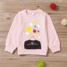 Toddler Girls Heart & Polka Dot Sweatshirt