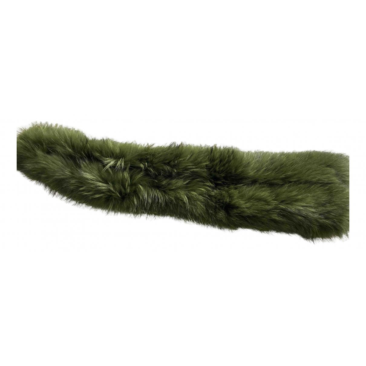 Charlotte Simone N Green Raccoon scarf for Women N
