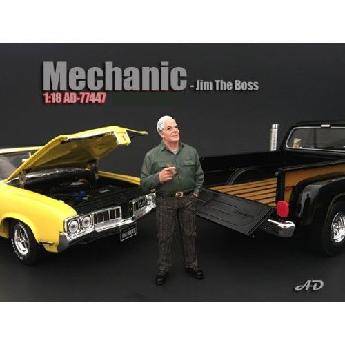 Mechanic Jim The Boss Figurine for 1/18 Scale Models by American Diorama