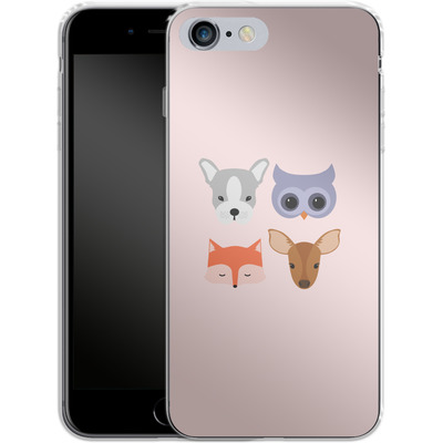 Apple iPhone 6 Plus Silikon Handyhuelle - Animal Friends on Pink von caseable Designs