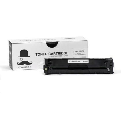 Compatible HP 131A CF210A Black Toner Cartridge - Moustache - 1/Pack