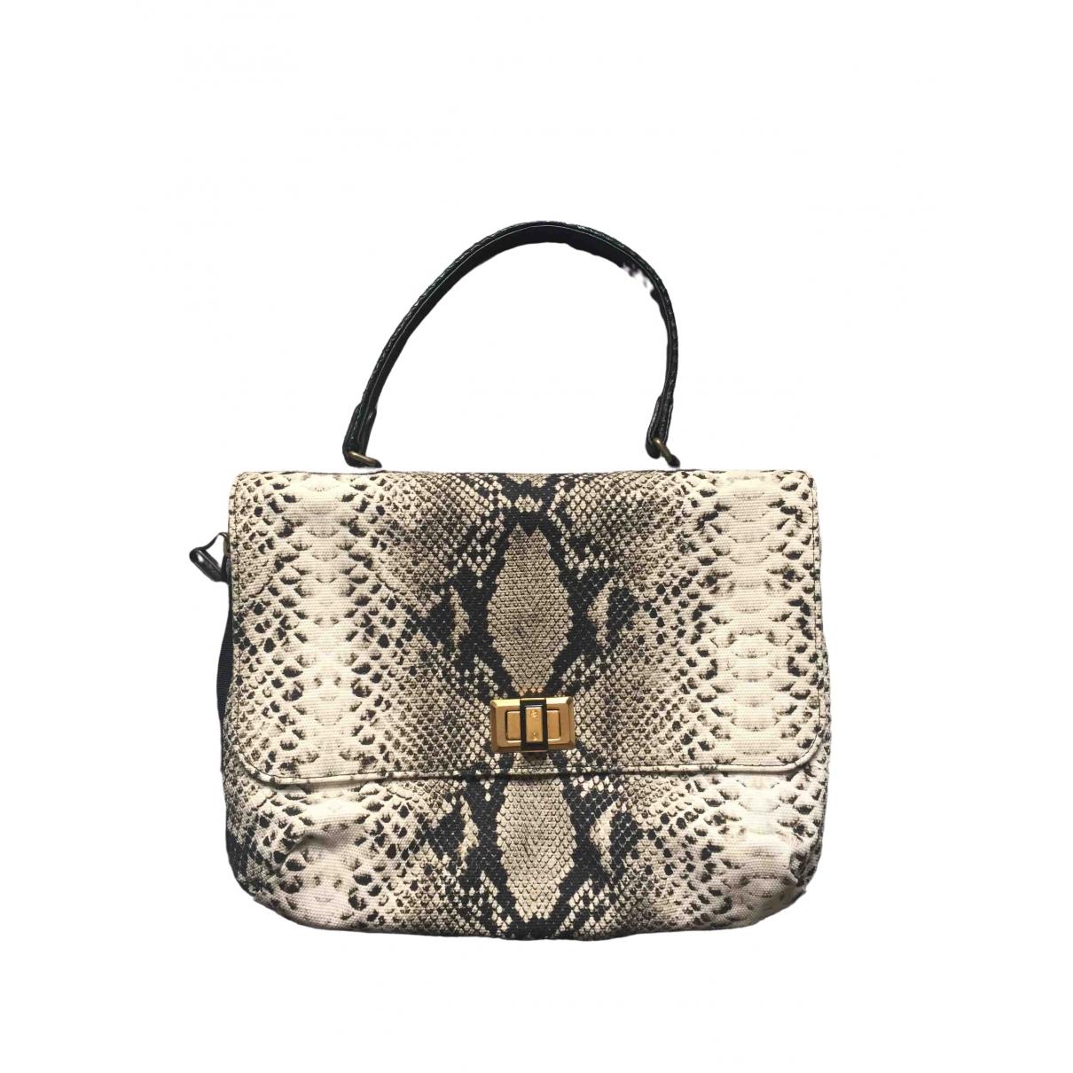 Lanvin Happy Handtasche in  Ecru Leinen
