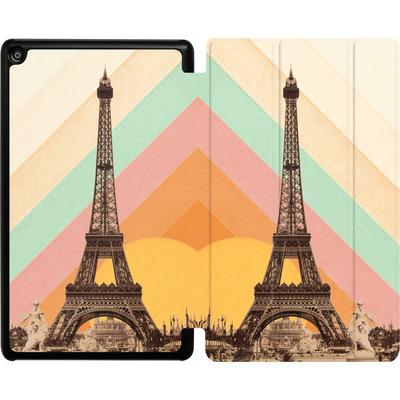 Amazon Fire HD 8 (2017) Tablet Smart Case - Eiffel Tower Rainbow von Florent Bodart