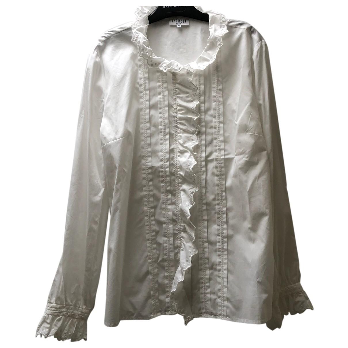 Claudie Pierlot Spring Summer 2020 White Cotton  top for Women 40 FR