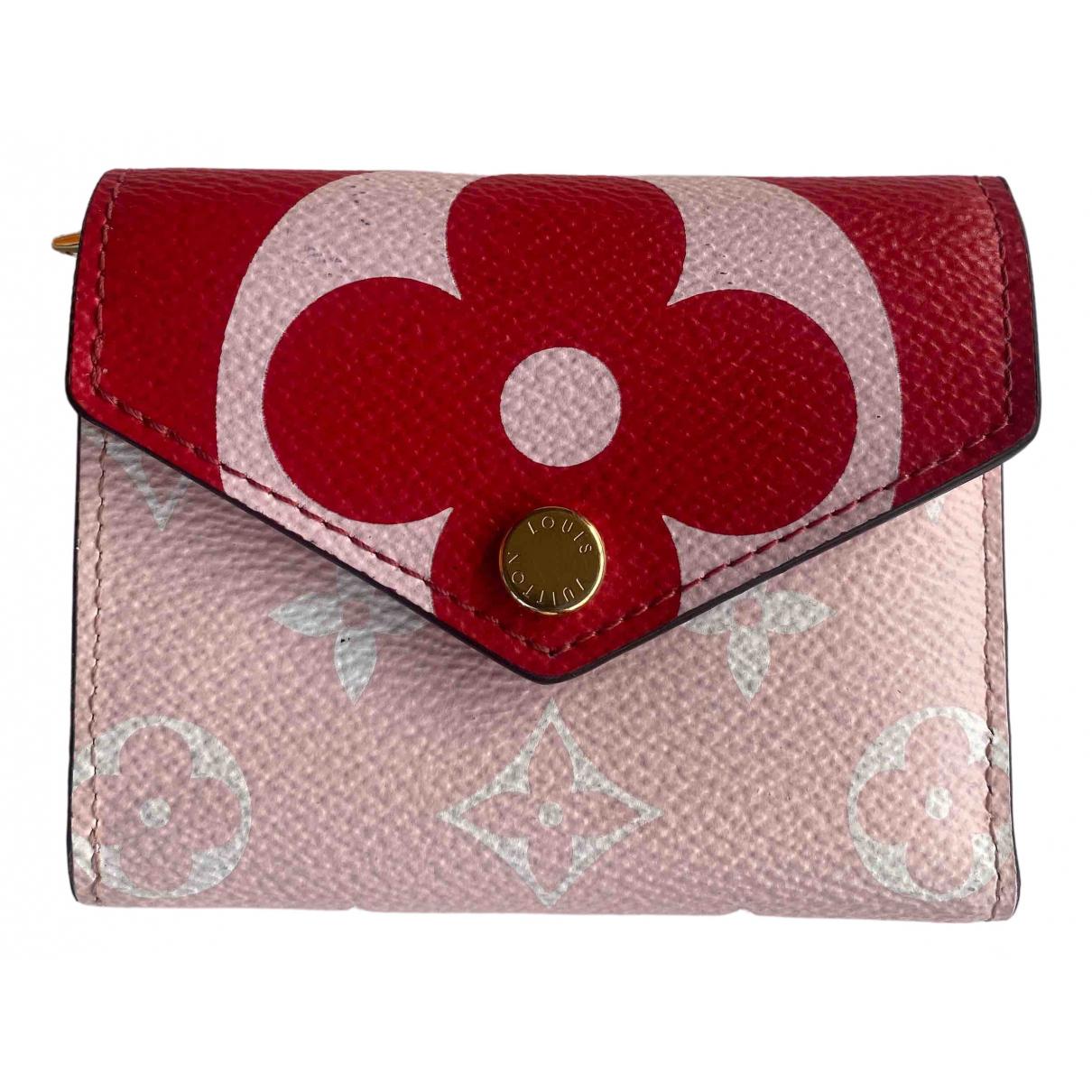 Louis Vuitton - Portefeuille Zoe pour femme en toile - rose