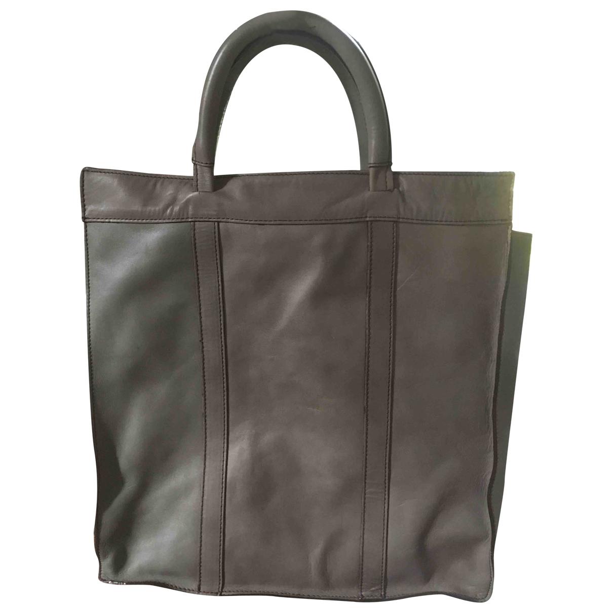 Aridza Bross \N Grey Leather handbag for Women \N
