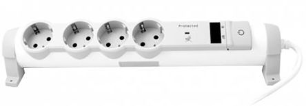 Legrand 1.5m 4 Socket Type E - French Extension Lead, 250 V
