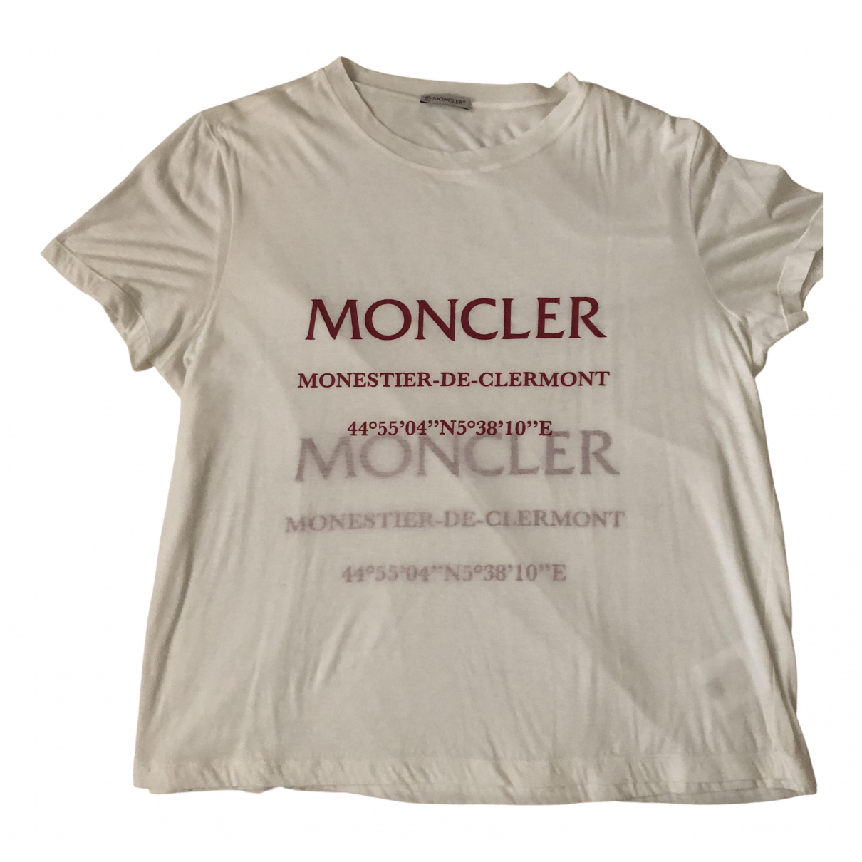 Moncler \N White Cotton  top for Women S International