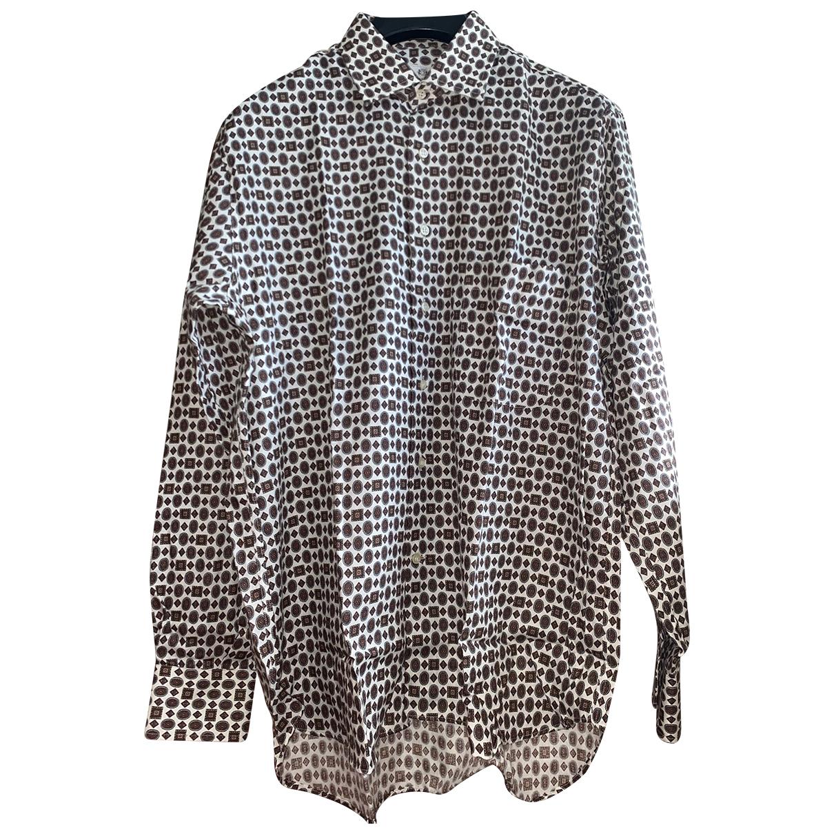 C.b. Made In Italy - Chemises   pour homme en coton - beige