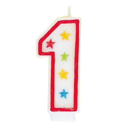 Bougie d'anniversaire et Joyeux anniversaire gâteau Topper Glitter Numéro