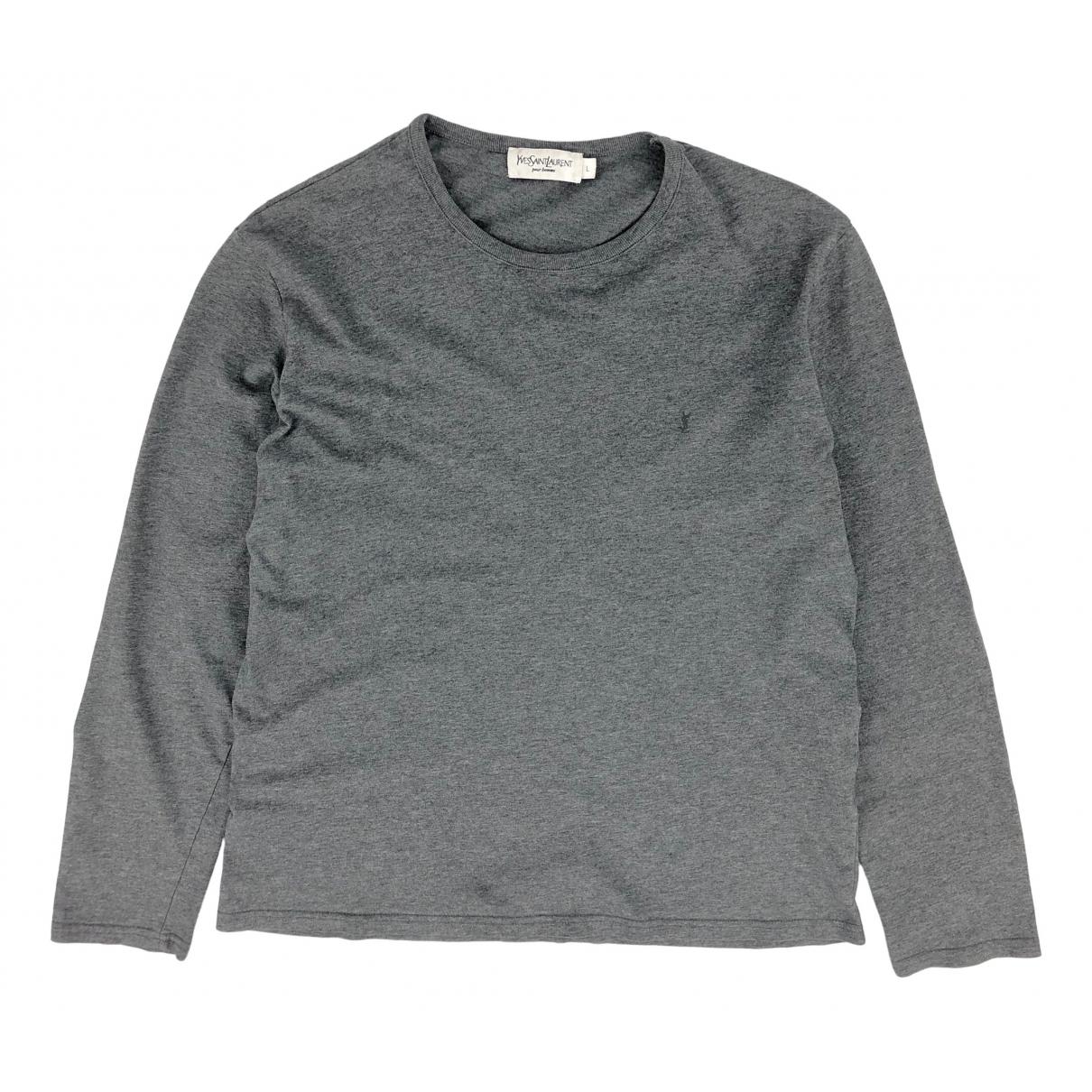 Yves Saint Laurent - Tee shirts   pour homme en coton - gris