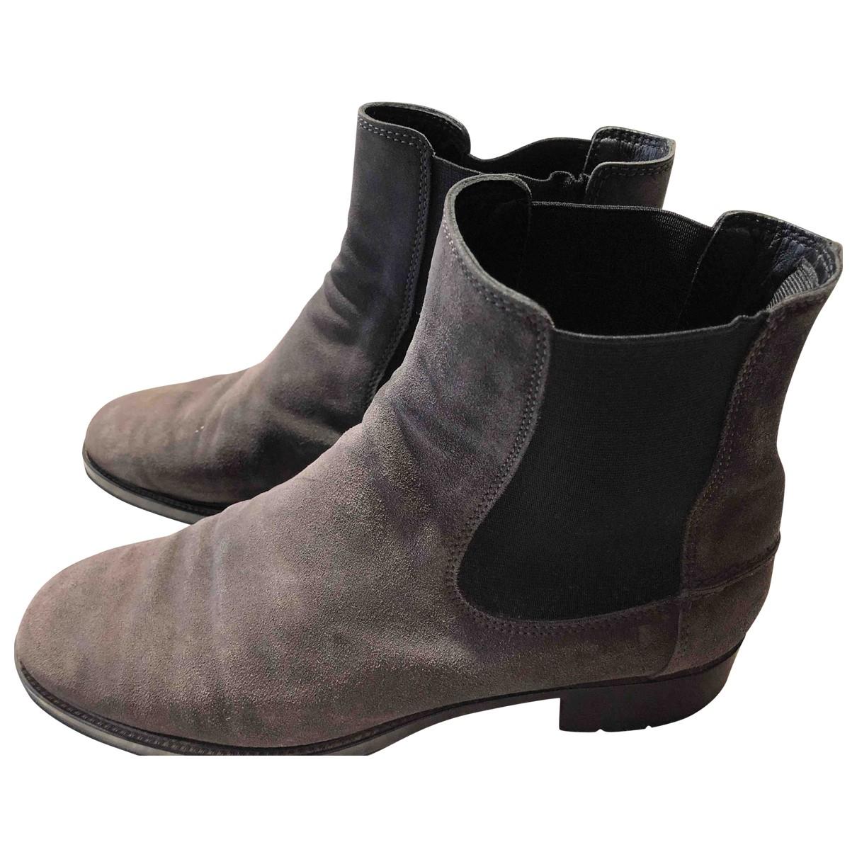 Tods \N Stiefel in  Grau Leder