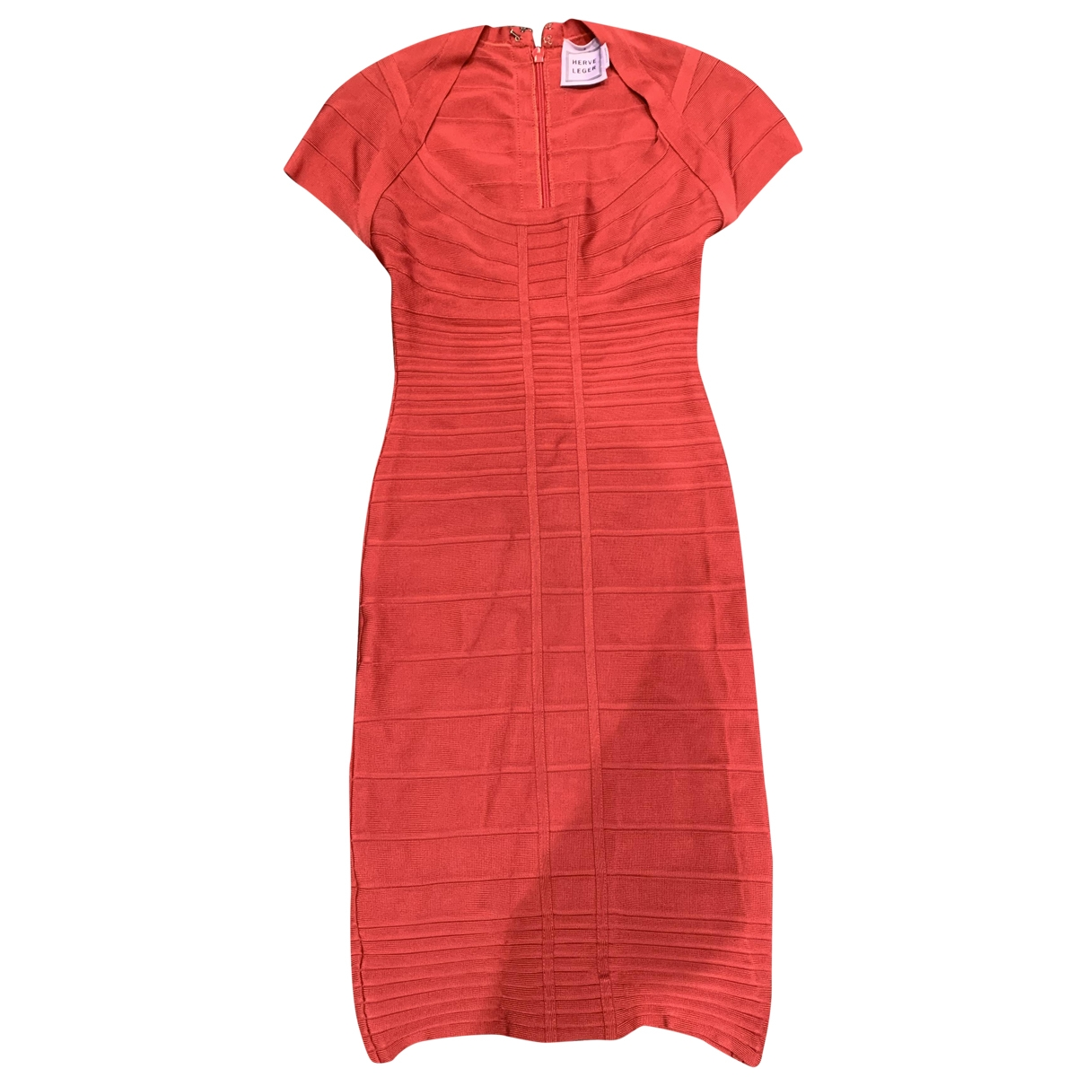 Herve Leger \N Kleid in  Rot Polyester