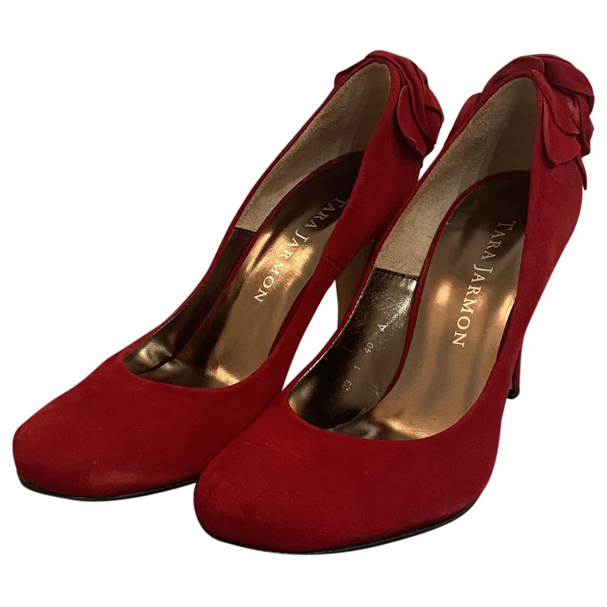 Tara Jarmon - Escarpins   pour femme en cuir - rouge