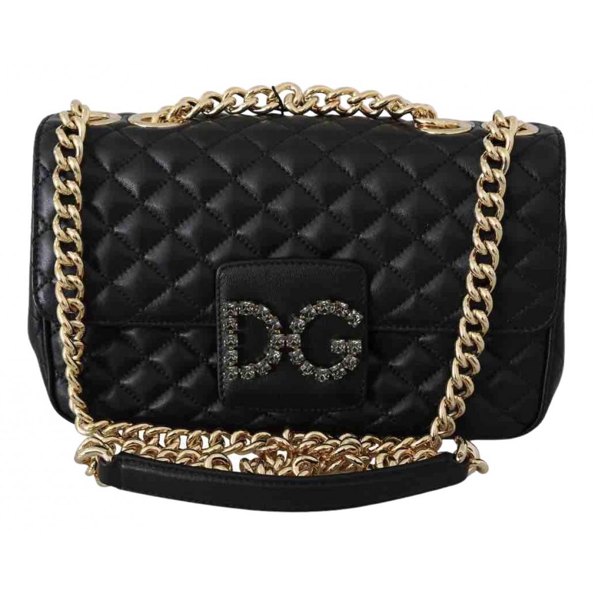 Dolce & Gabbana - Sac a main Millenials pour femme en cuir - noir