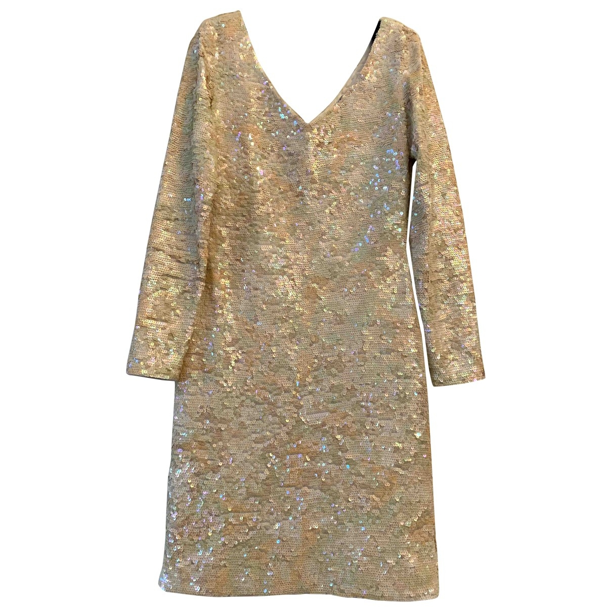 - Robe   pour femme en a paillettes - jaune