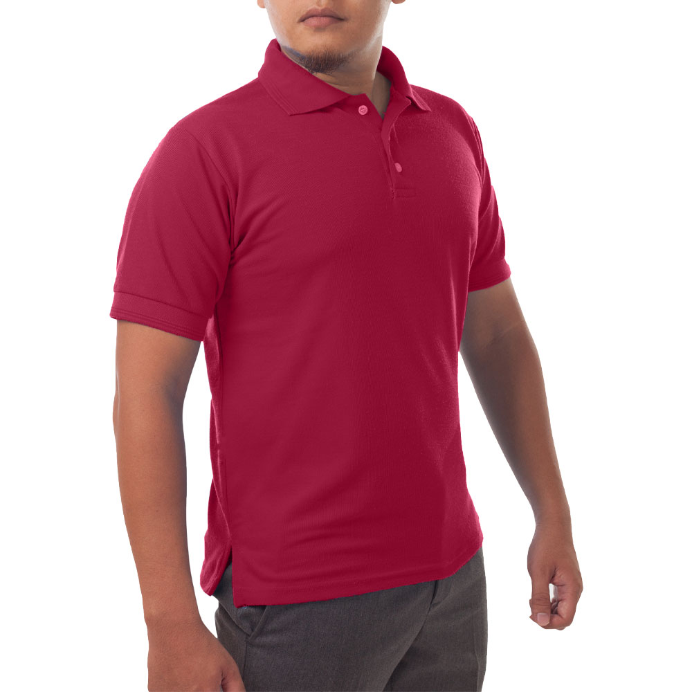 Page & Tuttle Solid Jersey Short Sleeve Polo Golf Shirt Red- Mens- Size XL
