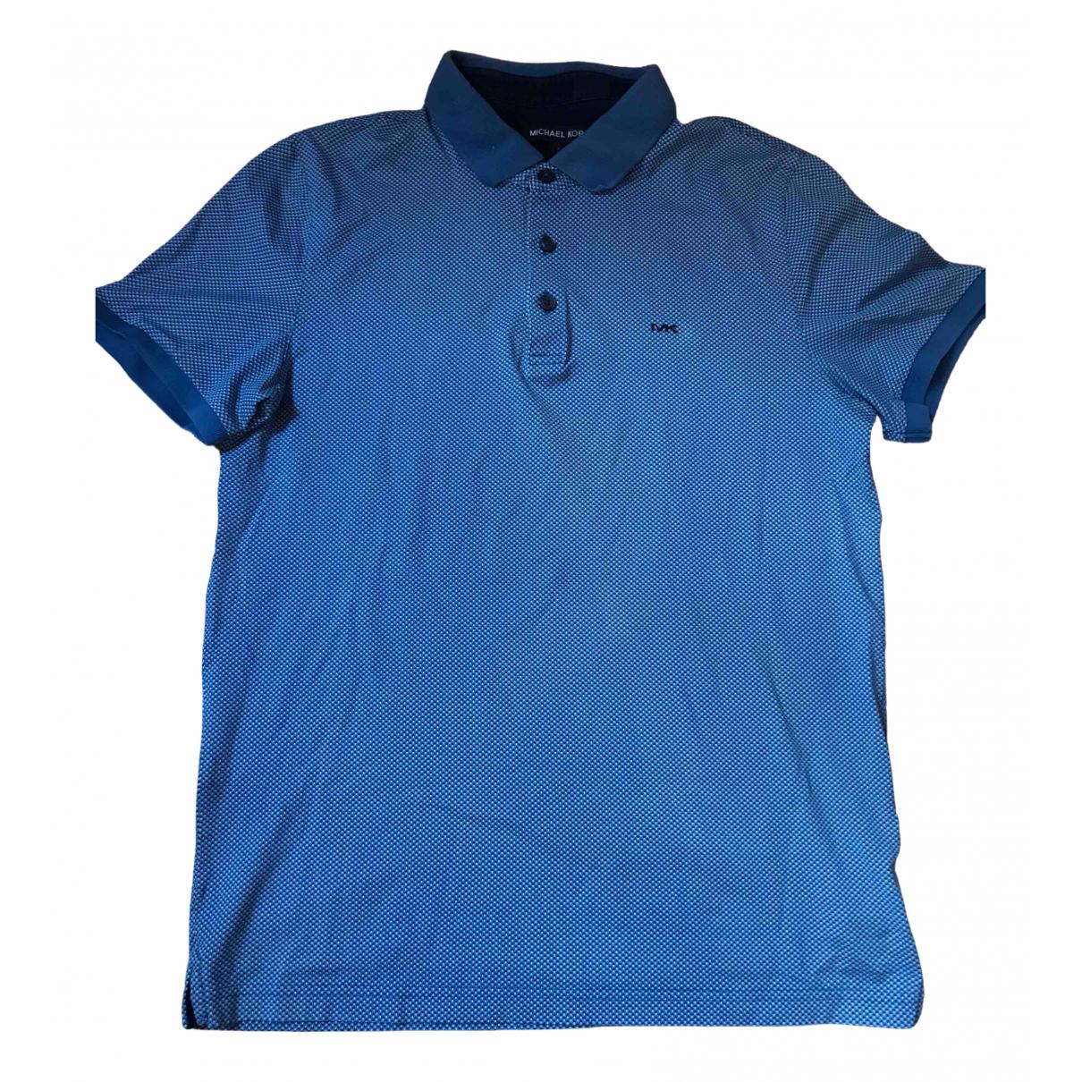 Michael Kors - Tee shirts   pour homme en coton - bleu